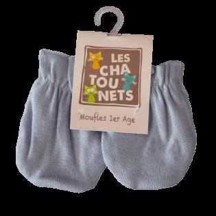 Moufles naissance coton